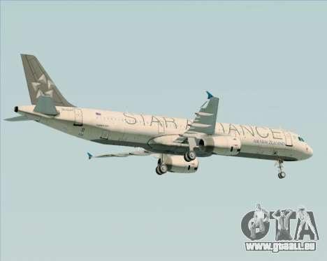 Airbus A321-200 Air New Zealand (Star Alliance) pour GTA San Andreas moteur
