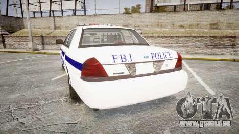 Ford Crown Victoria F.B.I. Police [ELS] pour GTA 4 Vue arrière de la gauche