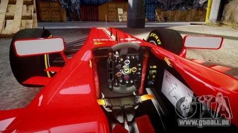 Ferrari F138 v2.0 [RIV] Alonso TSD pour GTA 4 est une vue de l'intérieur