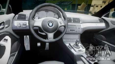 BMW M3 E46 2001 Tuned Wheel Gold pour GTA 4 Vue arrière