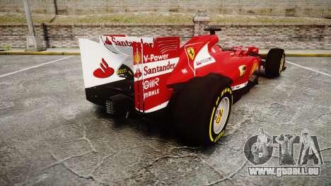 Ferrari F138 v2.0 [RIV] Alonso TSD pour GTA 4 Vue arrière de la gauche