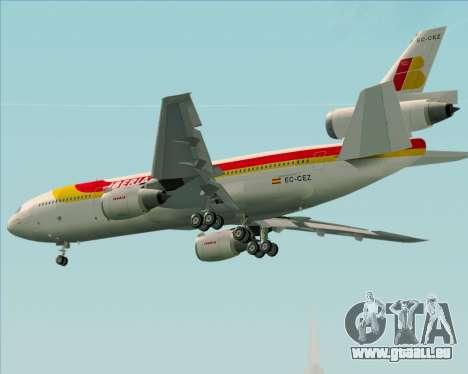 McDonnell Douglas DC-10-30 Iberia für GTA San Andreas rechten Ansicht