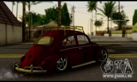 Volkswagen Fusca 1976 Rust Camber pour GTA San Andreas laissé vue