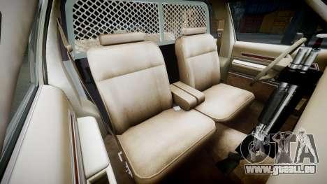 Ford LTD Crown Victoria 1987 Police CHP2 [ELS] pour GTA 4 est une vue de l'intérieur