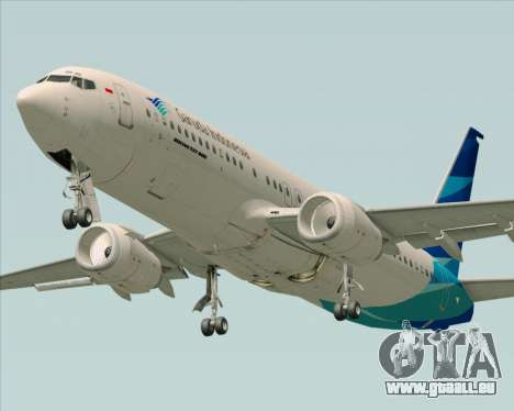 Boeing 737-800 Garuda Indonesia pour GTA San Andreas salon