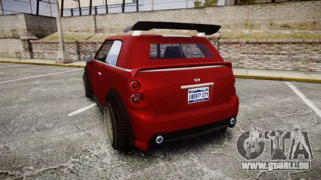 GTA V Weeny Issi Tuned pour GTA 4 Vue arrière de la gauche