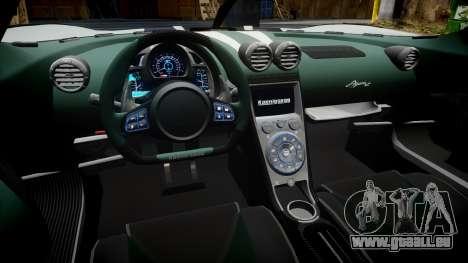 Koenigsegg Agera R 2013 [EPM] v1.5 pour GTA 4 Vue arrière