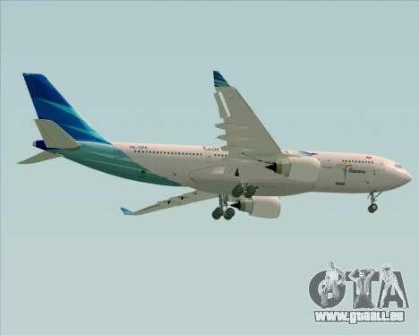 Airbus A330-243 Garuda Indonesia für GTA San Andreas Innenansicht