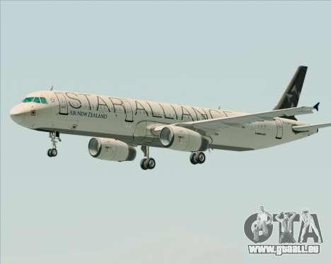 Airbus A321-200 Air New Zealand (Star Alliance) für GTA San Andreas Räder