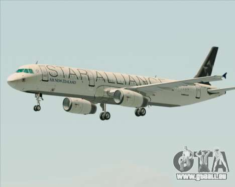 Airbus A321-200 Air New Zealand (Star Alliance) pour GTA San Andreas roue