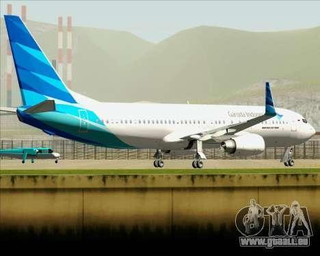 Boeing 737-800 Garuda Indonesia für GTA San Andreas obere Ansicht