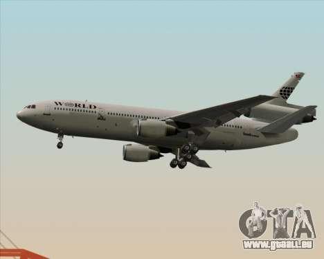 McDonnell Douglas DC-10-30 World Airways pour GTA San Andreas sur la vue arrière gauche
