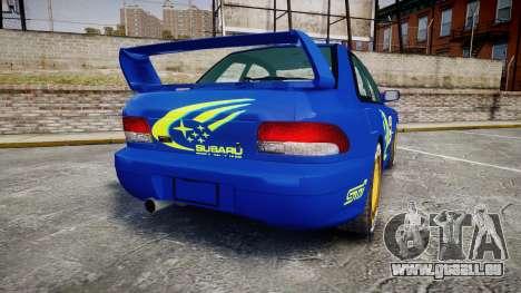 Subaru Impreza WRC 1998 World Rally pour GTA 4 Vue arrière de la gauche