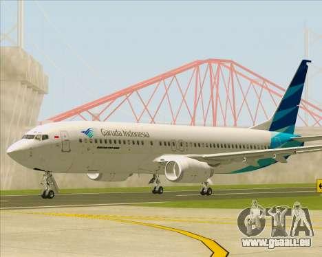 Boeing 737-800 Garuda Indonesia für GTA San Andreas linke Ansicht