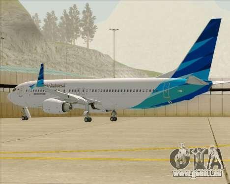 Boeing 737-800 Garuda Indonesia für GTA San Andreas Motor