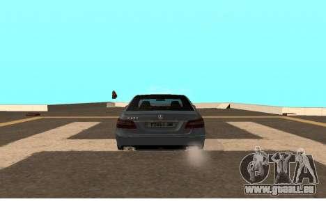 Mercedes-Benz W212 (Wheeljack from TF 3) pour GTA San Andreas sur la vue arrière gauche