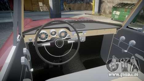 FSO Warszawa Ghia Kombi 1959 pour GTA 4 est une vue de l'intérieur