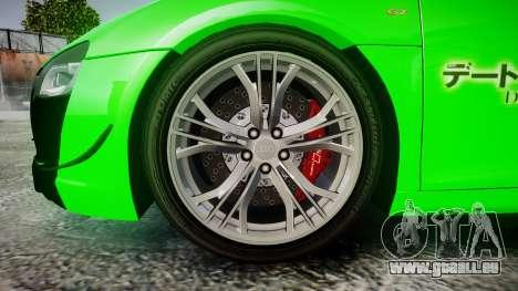 Audi R8 GT Coupe 2011 Yoshino pour GTA 4 Vue arrière