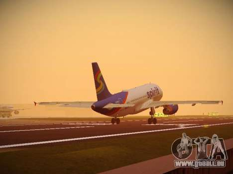 Airbus A319-132 Spirit Airlines pour GTA San Andreas roue