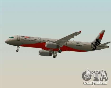 Airbus A321-200 Jetstar Airways für GTA San Andreas zurück linke Ansicht