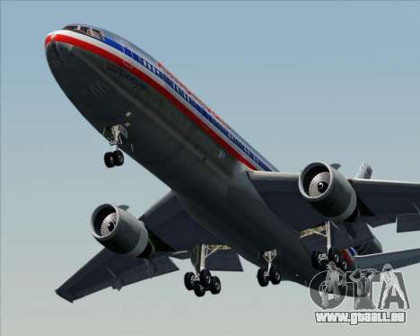 McDonnell Douglas DC-10-30 American Airlines für GTA San Andreas obere Ansicht