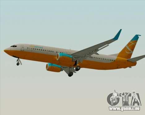 Boeing 737-800 Orbit Airlines pour GTA San Andreas vue de côté