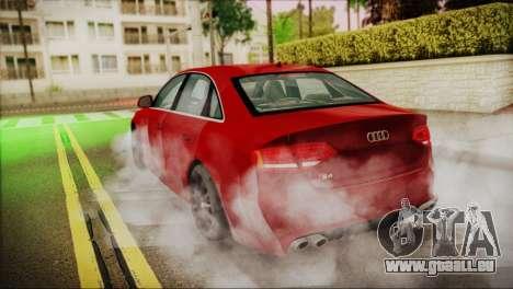 Audi S4 pour GTA San Andreas laissé vue