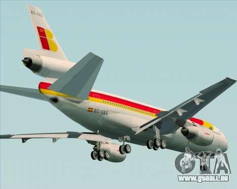 McDonnell Douglas DC-10-30 Iberia pour GTA San Andreas vue de dessus