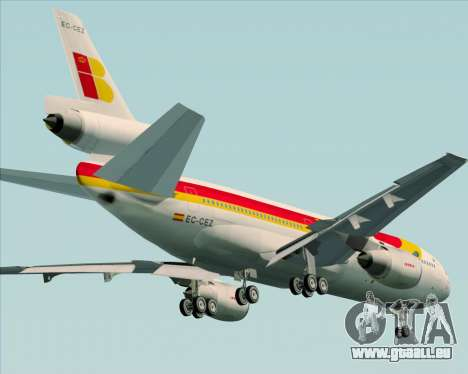 McDonnell Douglas DC-10-30 Iberia für GTA San Andreas obere Ansicht