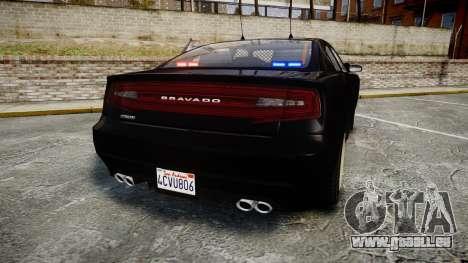 GTA V Bravado Buffalo Unmarked [ELS] Slicktop für GTA 4 hinten links Ansicht