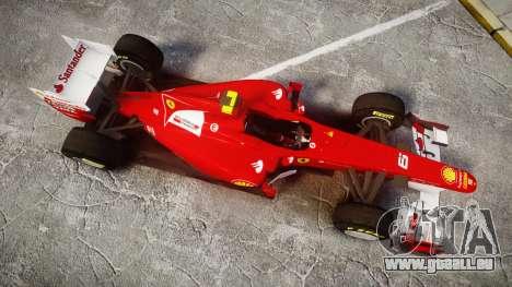 Ferrari 150 Italia Massa für GTA 4 rechte Ansicht