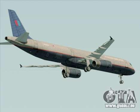 Airbus A321-200 United Airlines pour GTA San Andreas vue de droite