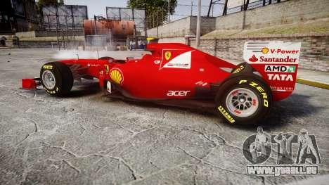Ferrari 150 Italia Massa für GTA 4 linke Ansicht