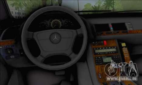 Mercedes-Benz E420 W210 pour GTA San Andreas sur la vue arrière gauche