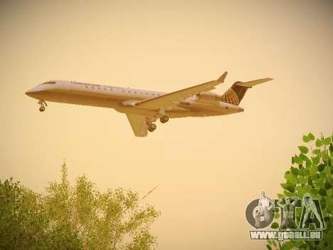 Bombardier CRJ-700 Continental Express für GTA San Andreas rechten Ansicht