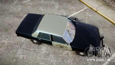 Chevrolet Caprice 1986 Brougham Police [ELS] pour GTA 4 est un droit