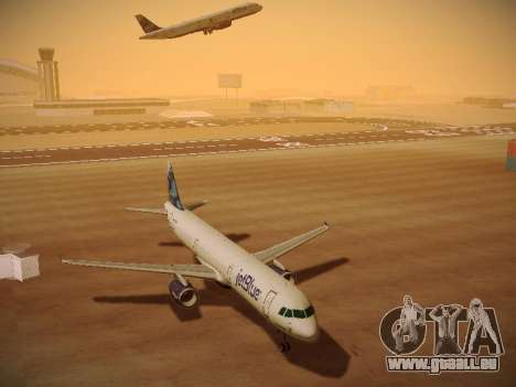 Airbus A321-232 jetBlue La vie en Blue pour GTA San Andreas vue intérieure