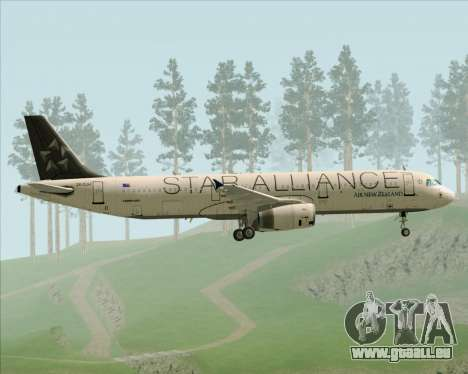 Airbus A321-200 Air New Zealand (Star Alliance) pour GTA San Andreas vue de côté