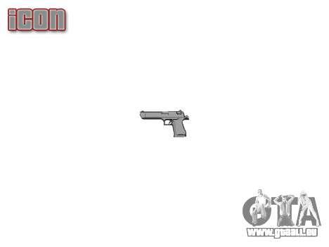 Пистолет IMI Desert Eagle Mk XIX Chrome pour GTA 4 troisième écran
