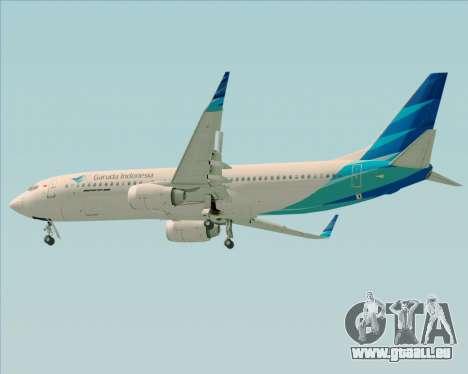 Boeing 737-800 Garuda Indonesia für GTA San Andreas rechten Ansicht