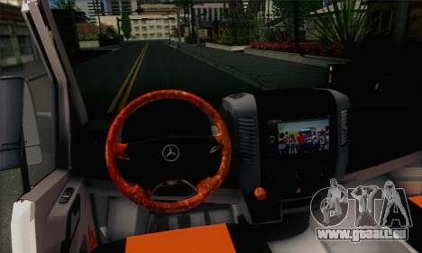 Mercedes-Benz Sprinter Servis pour GTA San Andreas sur la vue arrière gauche