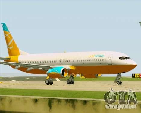 Boeing 737-800 Orbit Airlines pour GTA San Andreas vue intérieure