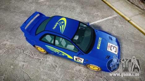 Subaru Impreza WRC 1998 World Rally für GTA 4 rechte Ansicht