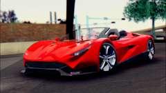 Specter Roadster 2013 (SA Plate) für GTA San Andreas