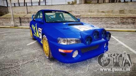Subaru Impreza WRC 1998 Rally v3.0 Yellow für GTA 4