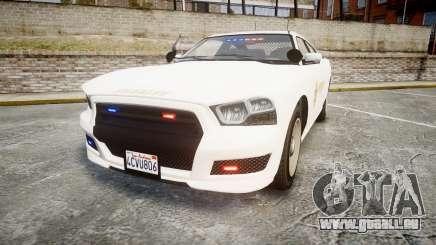 GTA V Bravado Buffalo LS Sheriff White [ELS] Sli pour GTA 4