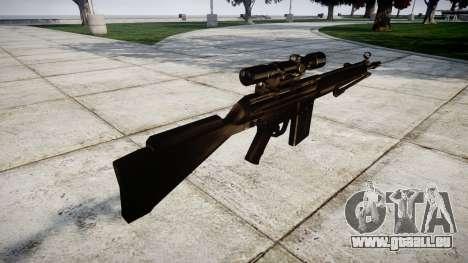 Fusil G3SG1 pour GTA 4 secondes d'écran