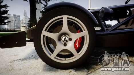 Ariel Atom V8 2010 [RIV] v1.1 Rosso & Bianco für GTA 4 Rückansicht