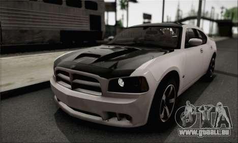 Dodge Charger SuperBee pour GTA San Andreas vue arrière