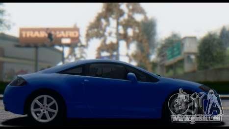Mitsubishi Eclipse 2006 für GTA San Andreas Innenansicht